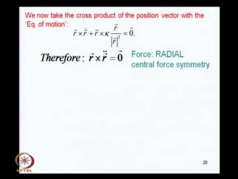 Mod-04 Lec-13 Dynamical Symmetry in the Kepler Problem(i)