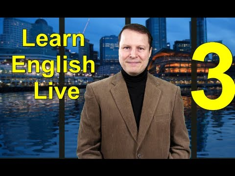 Learn English Live 3 - Steve Ford Answers Your Questions