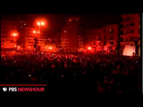 Egyptian Protesters Chanting in Tahrir Square