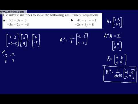 (23) FP1 Matrices (Edexcel) 2x2 Matrix to solve simultaneous equations 1 (systems of equations)