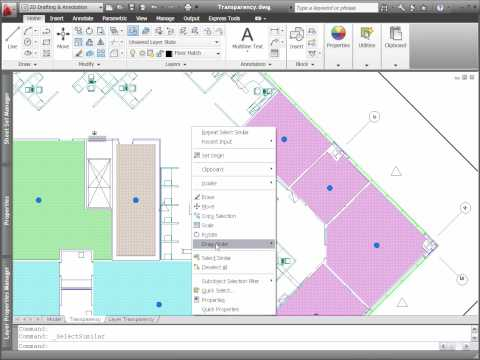 AutoCAD 2011 Object and Layer Transparency
