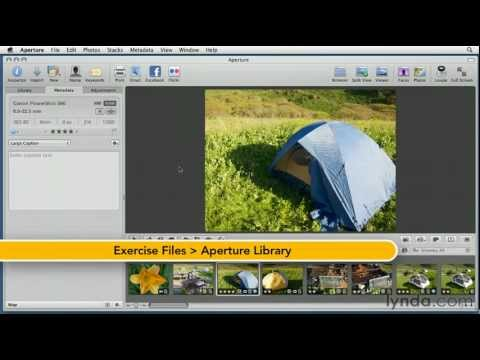 Aperture: How to create image captions | lynda.com tutorial