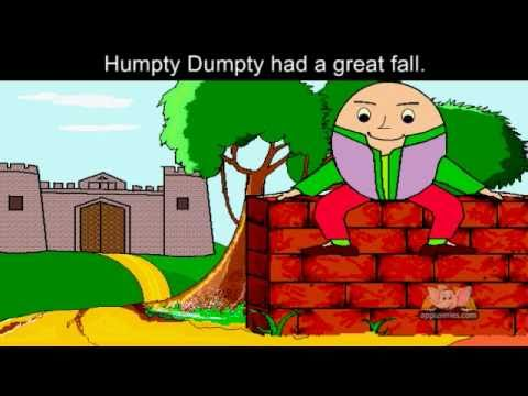 Humpty Dumpty with lyrics and sing along option