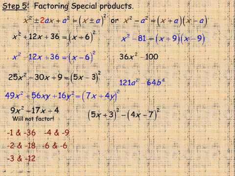 Factoring Strategies Part 2.avi