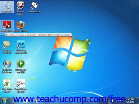 Windows 7 Tutorial The Mouse Microsoft Training Lesson 1.3