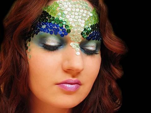 Mermaid makeup for Halloween by MissChievous