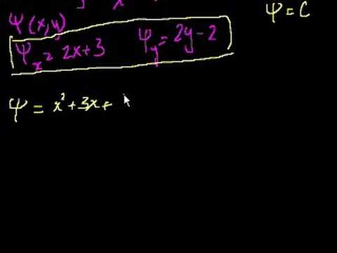 Exact Equations Example 2