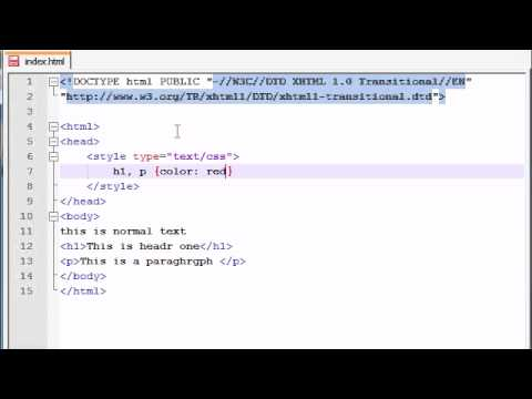 XHTML and CSS Tutorial - 28 - Style More Than One Elements & Span!