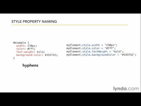 JavaScript tutorial: How to apply styles with CSS | lynda.com