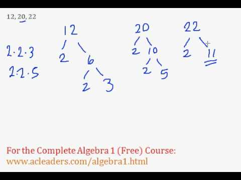 Least Common Multiple (LCM) - Algebra Review - Part 3