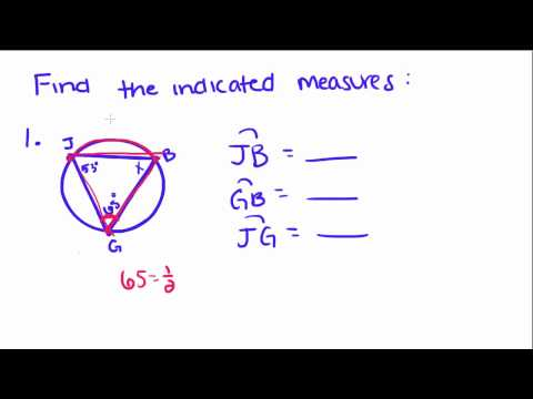 Introduction to Geometry - 47 - Arcs and Angles, Inscribed Angles