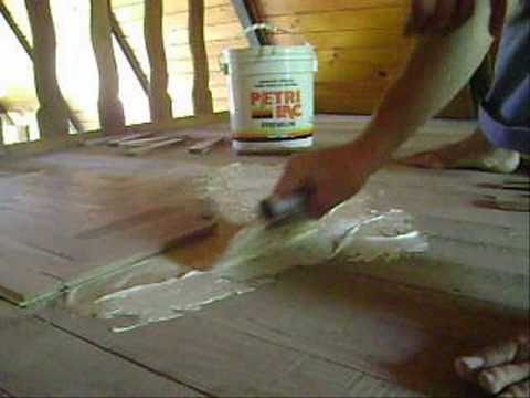 Floating Parquet Floor Installation