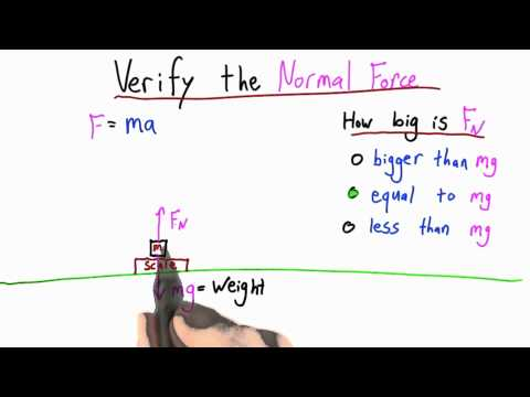 The Normal Force Solution  - Intro to Physics - What causes motion - Udacity