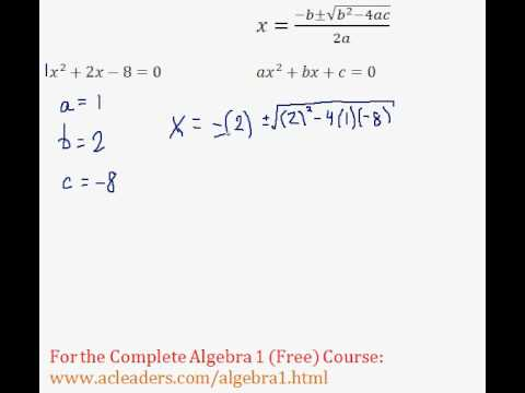 (Algebra 1) Quadratics - Quadratic Formula Pt. 1