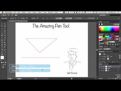 Adobe Illustrator CS6 Tutorial | Pen Tool Basics | InfiniteSkills