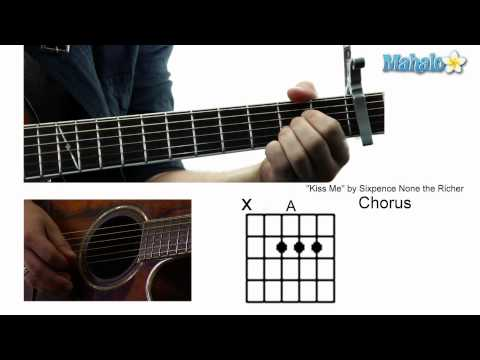 "How to Play ""Kiss Me"" by Sixpence None the Richer on Guitar"