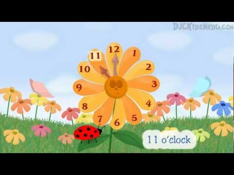 The Flower Clock - Kids Song for Learning to Tell Time