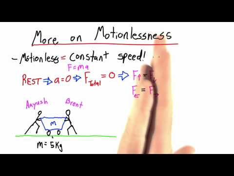 More on Motionlessness - Intro to Physics - What causes motion - Udacity
