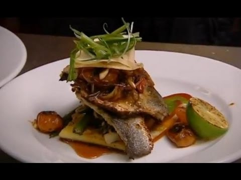 Pan-fried fillets of sea bass - Caribbean Food Made Easy - BBC