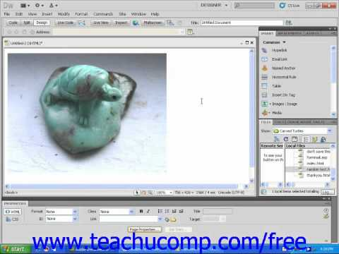 Dreamweaver CS5 Tutorial Using Images and Text Together Adobe Training Lesson 4.10