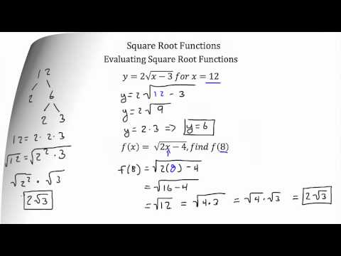 Functions- Square Root Functions PT 1