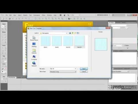 Adobe Fireworks: Using the Grid Systems template | lynda.com tutorial