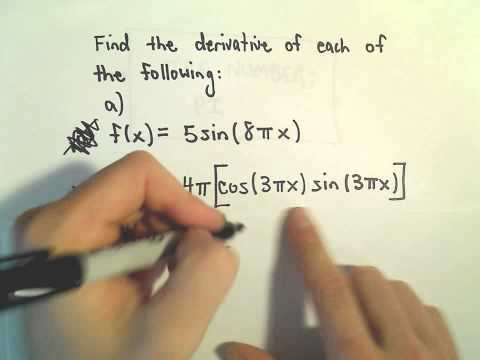 More Derivatives Involving Trigonometric Functions, Ex 1