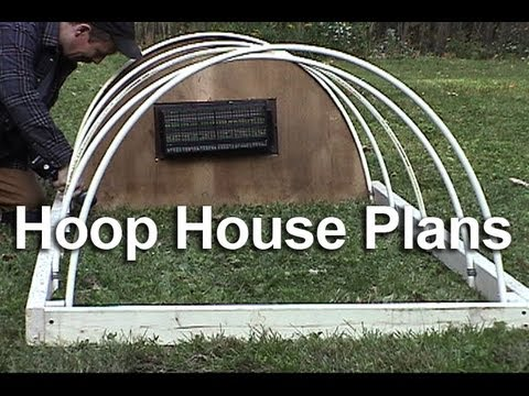 How to build a cold frame hoop house HD : GardenFork.TV