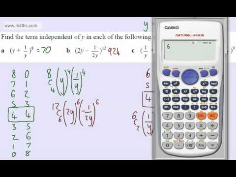 (6) C2 Binomial Expansion (terms independent of x)