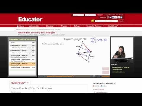 Geometry: Inequalities Involving Two Triangles