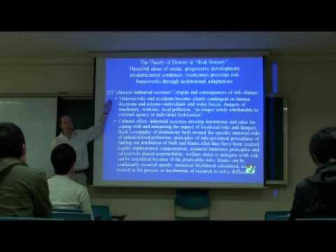 Environmental Sociology 5 (4/6): Ecological Modernization, Continued: Ulrich Beck's Risk Society