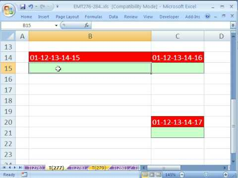 Excel Magic Trick # 277: Add 01-12-13-14-15 Text String From