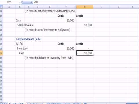 Advanced Accounting 17: Intercompany Inventory Transactions