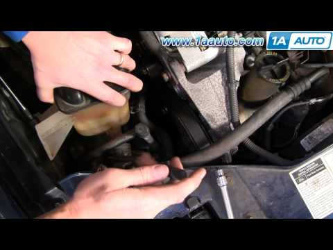 How To Install Replace Anti Freeze Coolant Overflow Recovery Bottle Taurus Sable 96-06 1AAuto.com