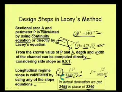 Mod-6 Lec-3 Design of Alluvial Channel-2