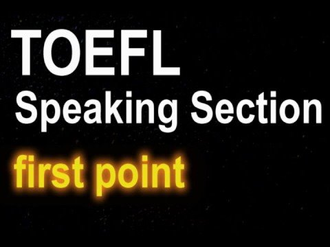 Learn English with Steve Ford - TOEFL Lesson 4- How to Pass Speaking Section