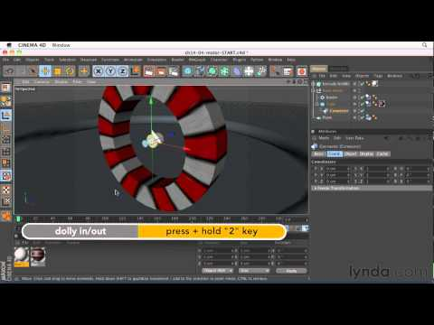 Cinema 4D: How to create movement with motors | lynda.com tutorial
