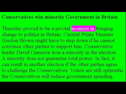 Accent Reduction Learn English Lesson 14 - British Election!