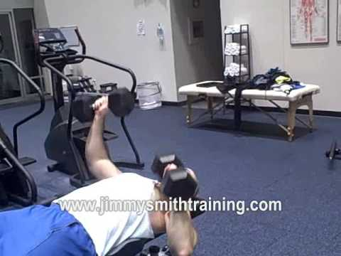 alternating arm flat bench press