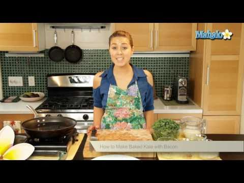 How to Make Baked Kale With Bacon