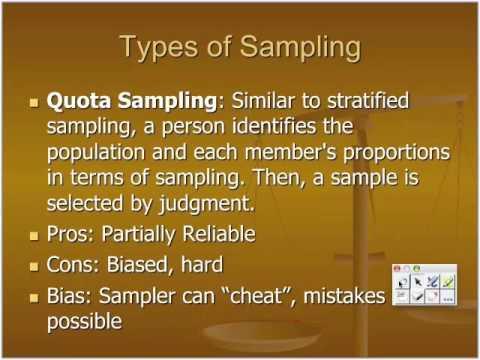 Types of Sampling: Sampling Principles by Gio MST