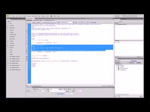 Dreamweaver CS4 Tutorial - 35 - Form Validation of a Confirmation