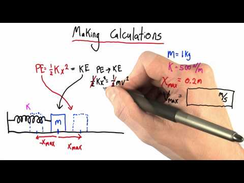 Making Calculations Solution - Intro to Physics - Simple Harmonic Motion - Udacity