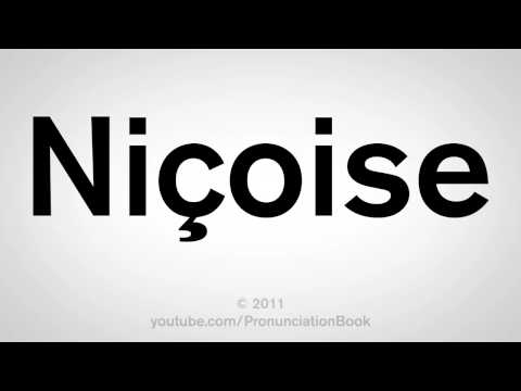 How To Pronounce Nicoise