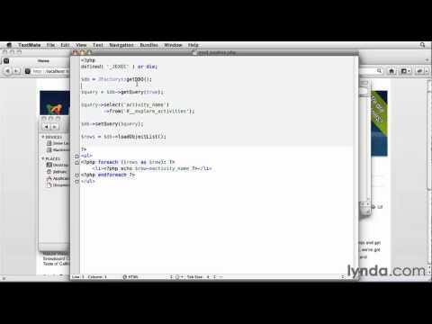 Joomla!: How to display data using modules | lynda.com tutorial