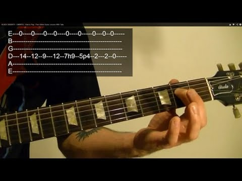 EMBRYO by BLACK SABBATH ( Guitar Lesson ) WITH TABS