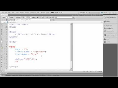 4 - Introduction to PHP - Variables and Constants