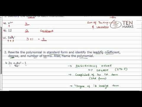 Classify Polynomials