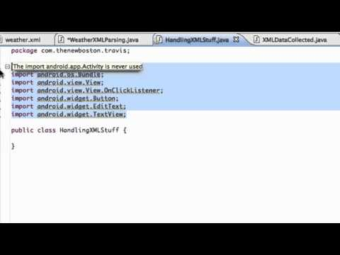 Android Application Development Tutorial - 154 - Setting up XML Parsing Project
