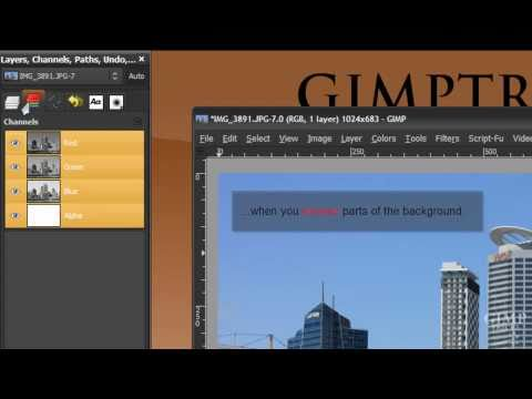 """GIMP- What does """"Add Alpha Channel"""" mean? - tutorial"""